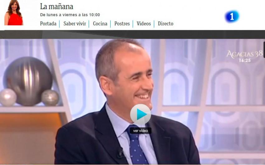 """Hablando de cesáreas en """"Saber vivir"""" de TVE"""